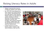 raising literacy rates in adults