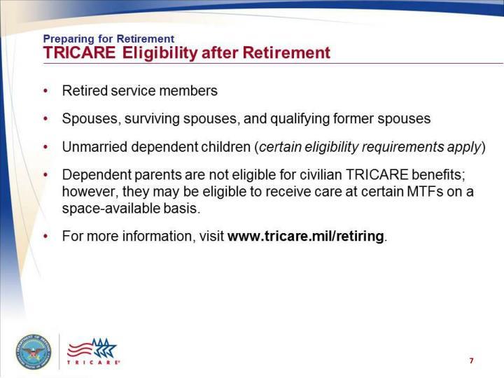 Preparing for Retirement: TRICARE