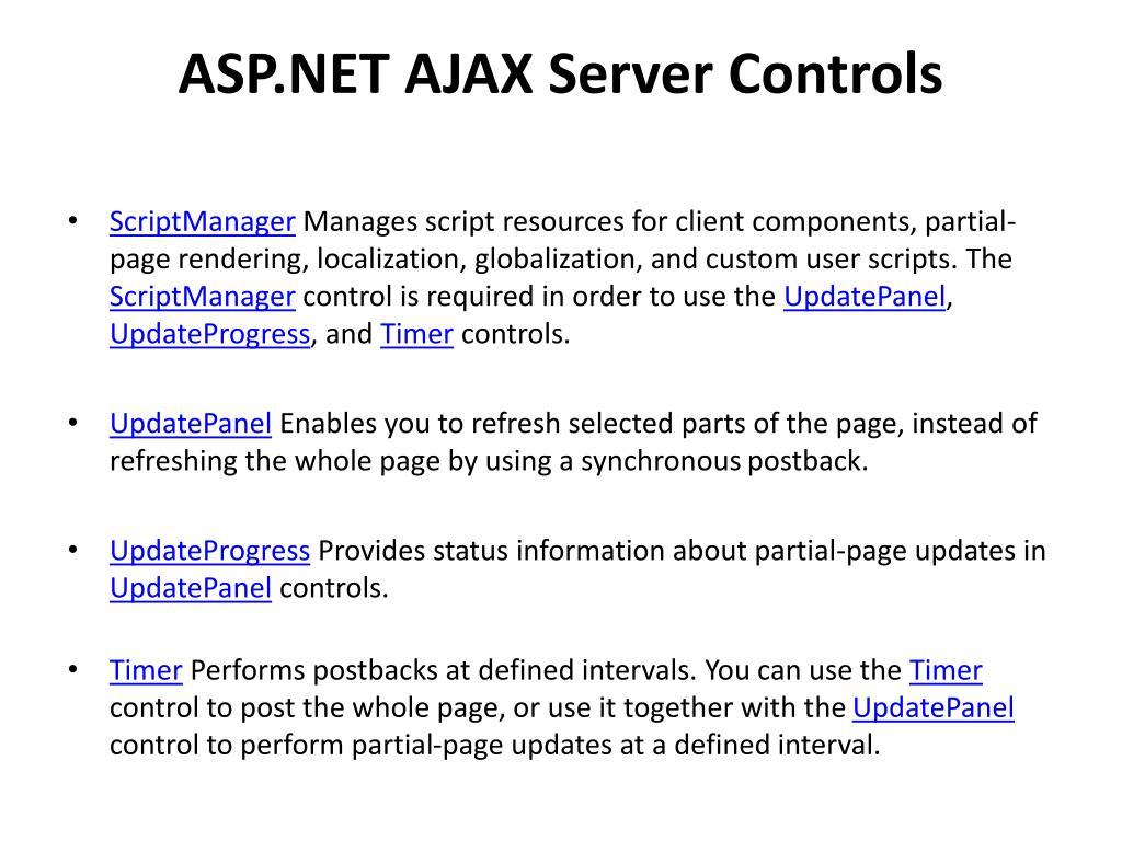 PPT - ASP NET Ajax PowerPoint Presentation - ID:2412186