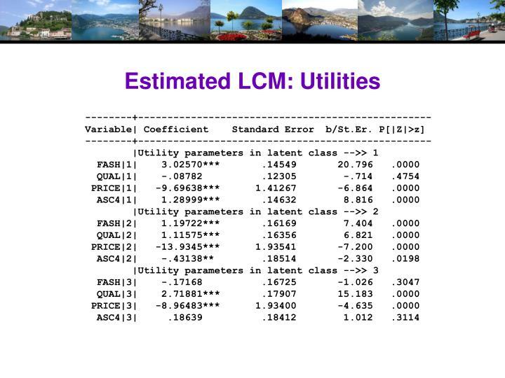 Estimated LCM: Utilities