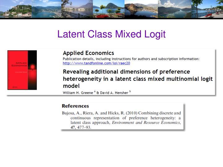 Latent Class Mixed Logit