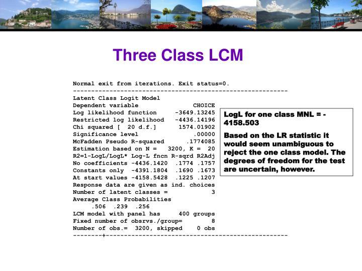 Three Class LCM