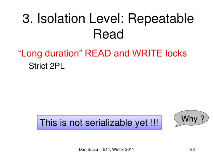 3. Isolation Level: Repeatable Read