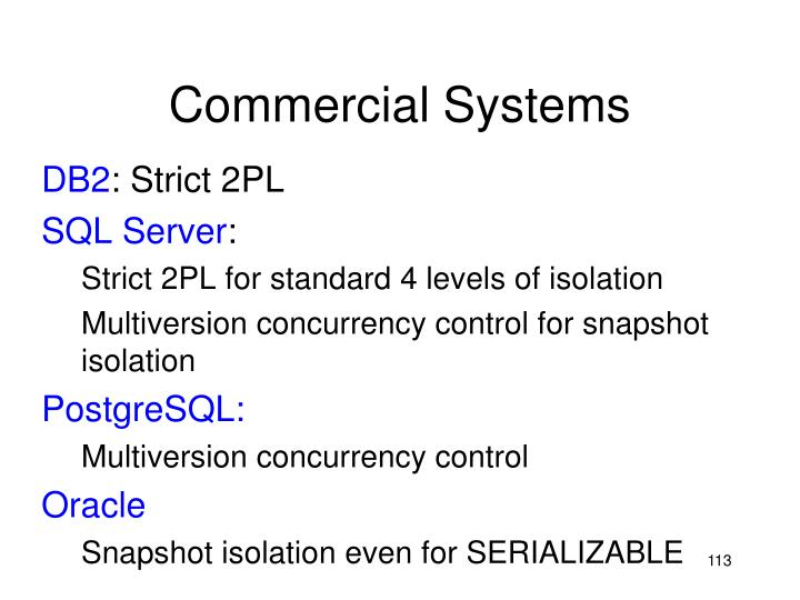 Commercial Systems