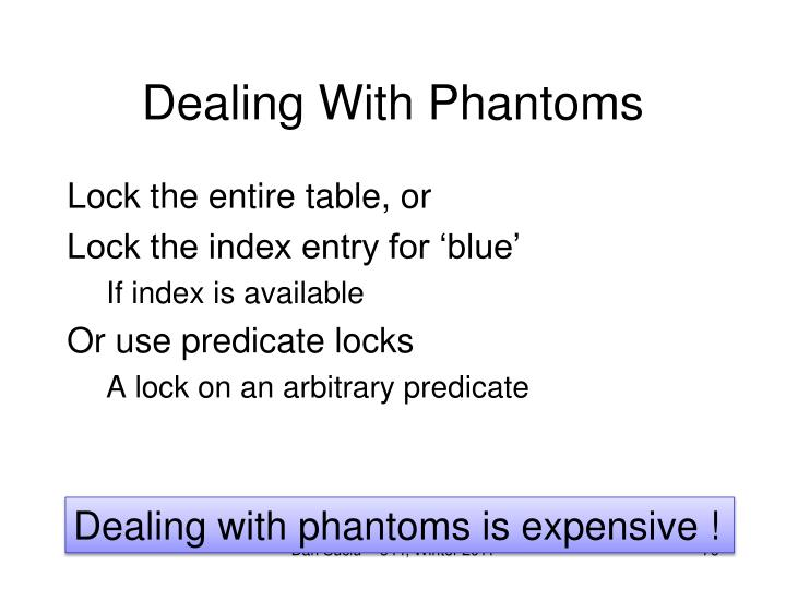 Dealing With Phantoms