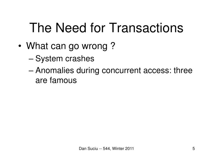 The Need for Transactions
