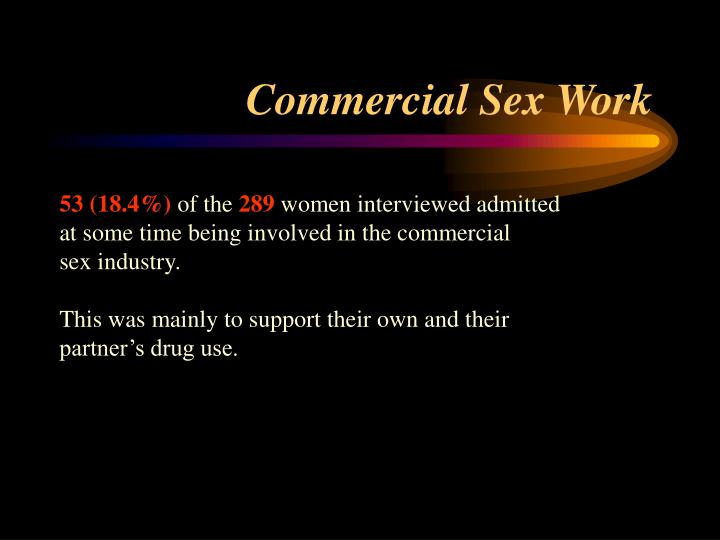 Commercial Sex Work