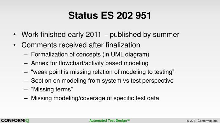 Status ES 202 951