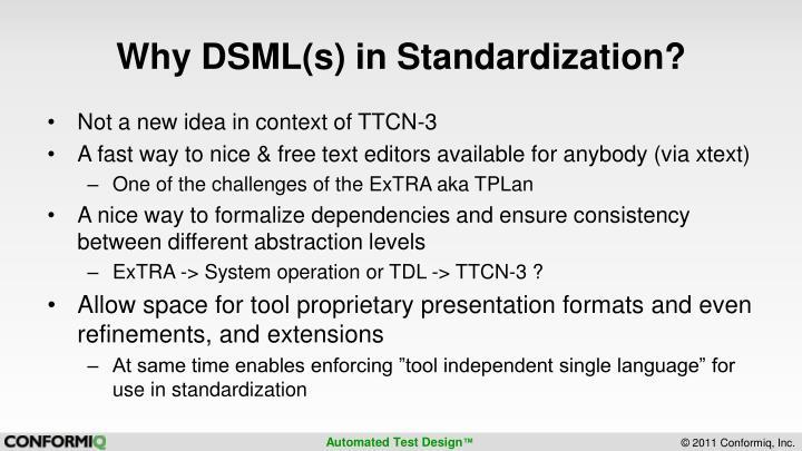 Why DSML(s) in Standardization?