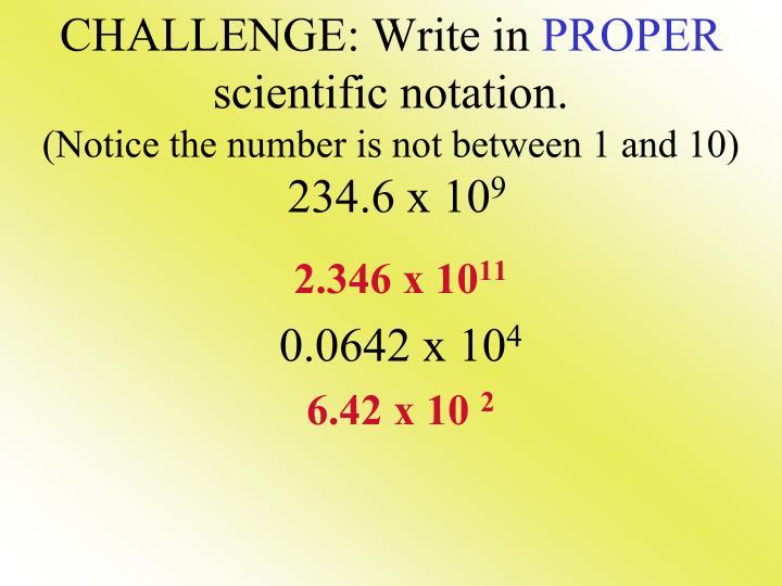 CHALLENGE: Write