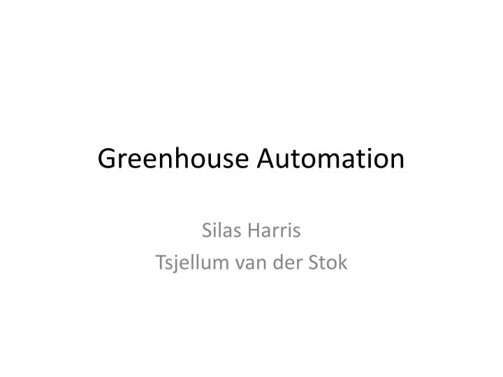 greenhouse automation n.