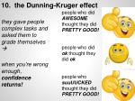 10 the dunning kruger effect