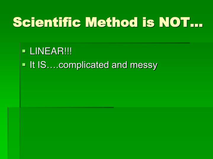 Scientific Method is NOT…
