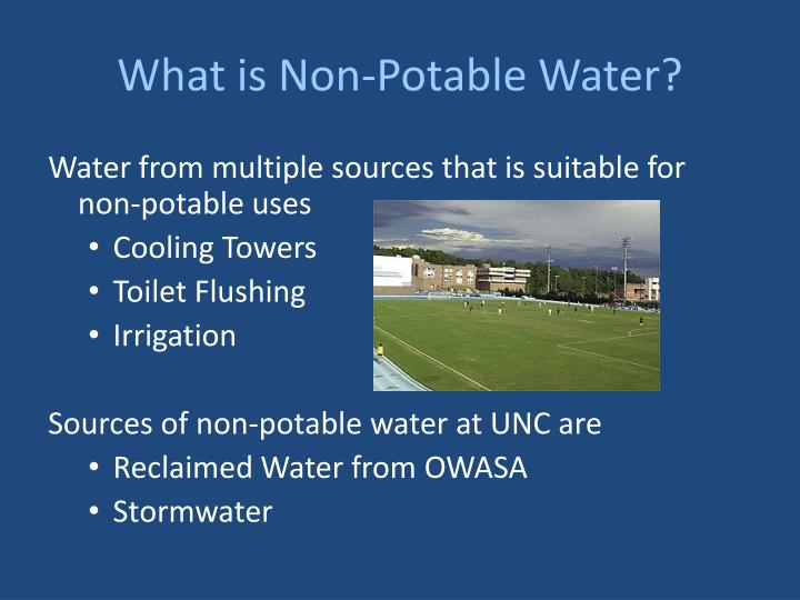 What is non potable water