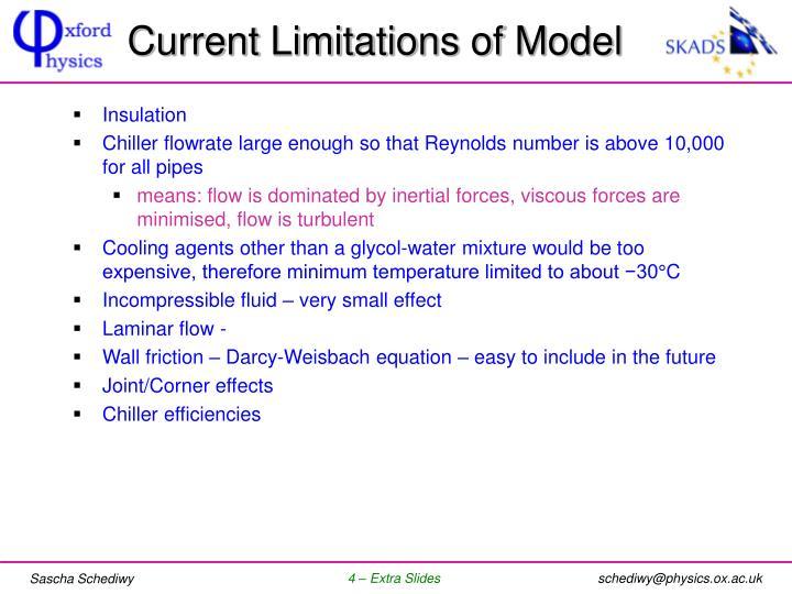 Current Limitations of Model
