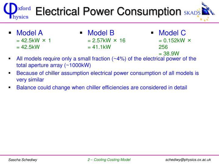 Electrical Power Consumption
