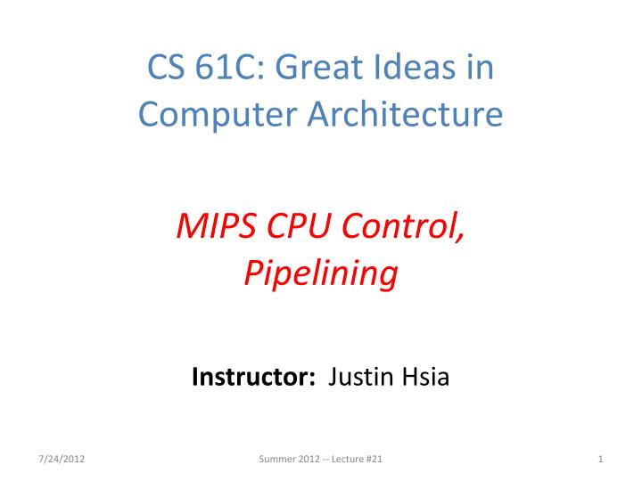 instructor justin hsia n.