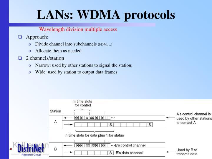 LANs: WDMA protocols