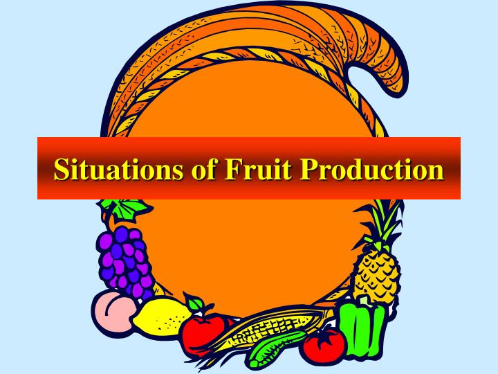Situations of Fruit Production