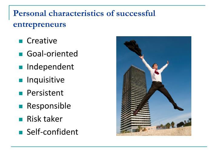 risk taking characteristics of entrepreneur