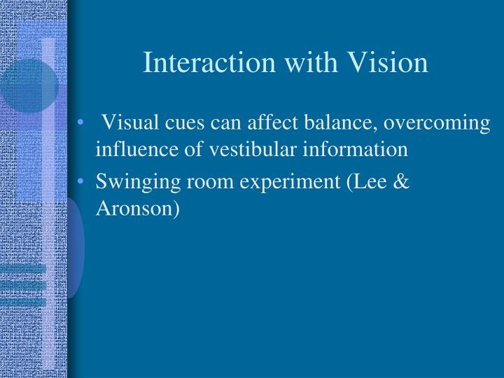 Interaction with Vision