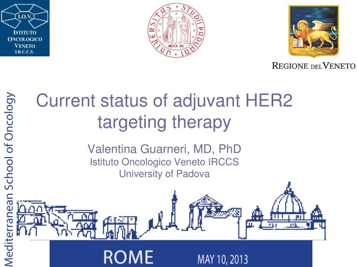 Current status of adjuvant HER2 targeting therapy