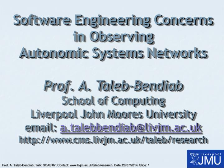 Software Engineering Concerns in Observing