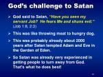 god s challenge to satan