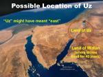 possible location of uz