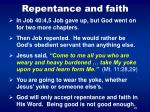 repentance and faith