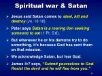 spiritual war satan