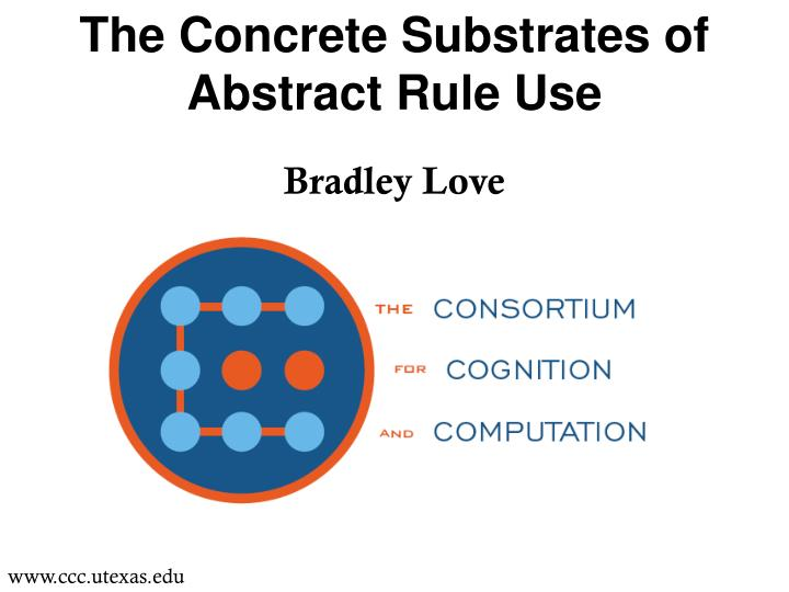 the concrete substrates of abstract rule use n.