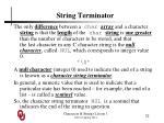 string terminator