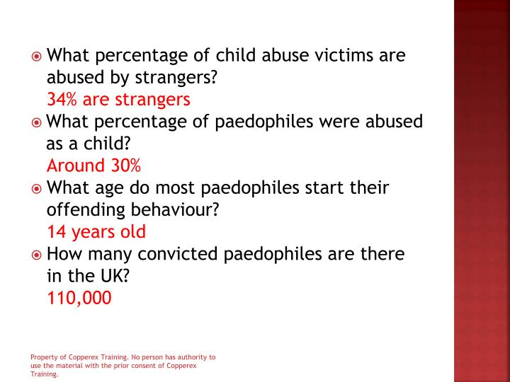 What percentage of child abuse victims are abused by strangers?