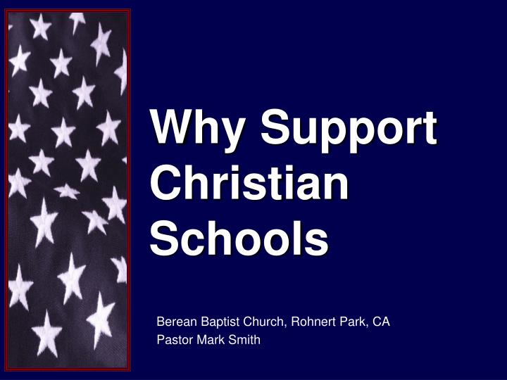 why support christian schools n.