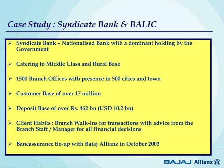 Image of: Random Case Study Syndicate Bank Balic Slideserve Ppt Mukul Gupta Cfo Head Bancassurance Bajaj Allianz Life
