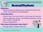 musical rhythmic