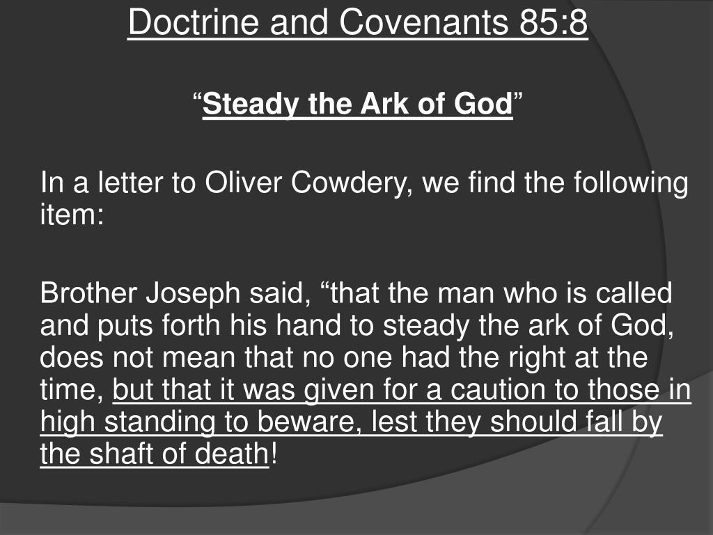 Ppt Doctrine And Covenants 85 87 Powerpoint Presentation Free Download Id 2413957