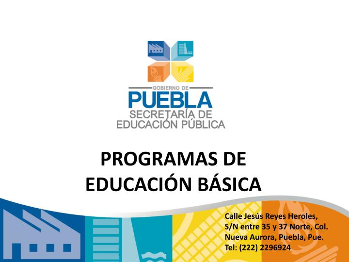 Programas de educaci n b sica
