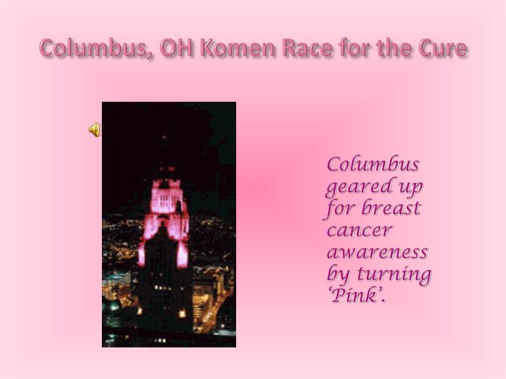 Columbus oh komen race for the cure
