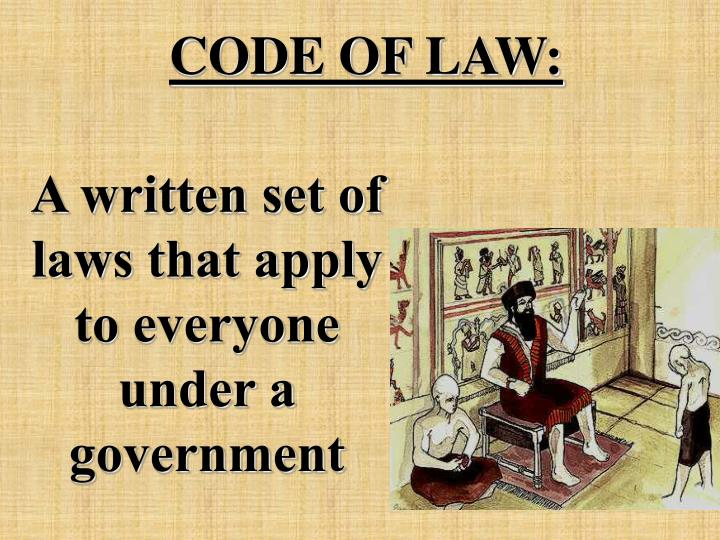 CODE OF LAW: