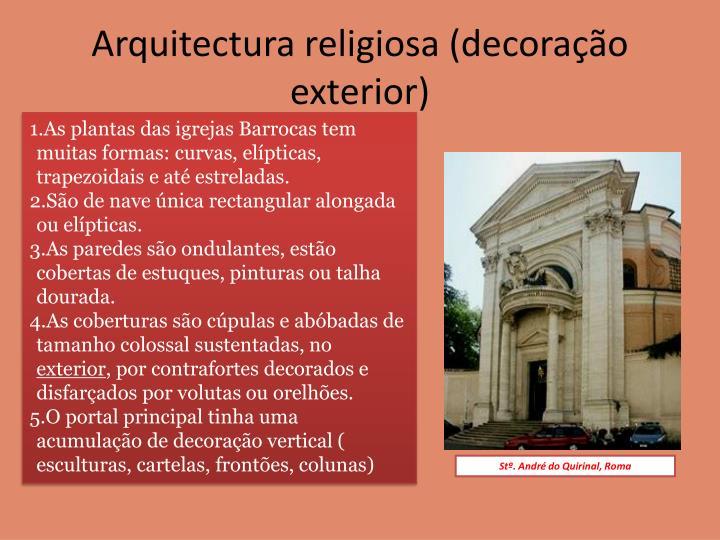 Arquitectura religiosa (decoração exterior)