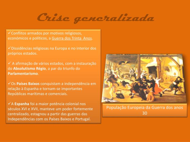 Crise generalizada