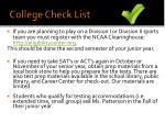 college check list1