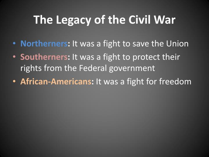 The legacy of the civil war1