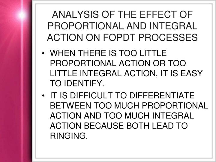 Analysis of the Effect of