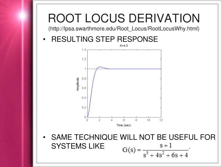 Root locus derivation