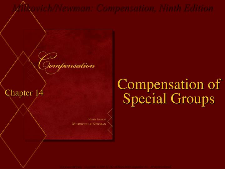 compensation of special groups n.