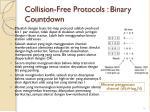 collision free protocols binary countdown