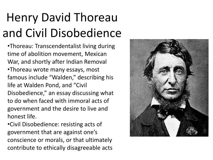 Ppt  Henry David Thoreau And Civil Disobedience Powerpoint  Thoreau Transcendentalist Living During Time Of Abolition Movement  Harvard Business School Essay also Argument Essay Paper Outline Essay About Science And Technology